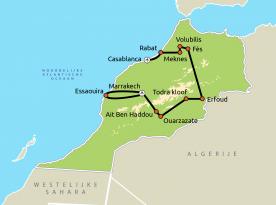 Routekaart Marokko