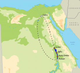 Routekaartje Klassiek Egypte Herfst