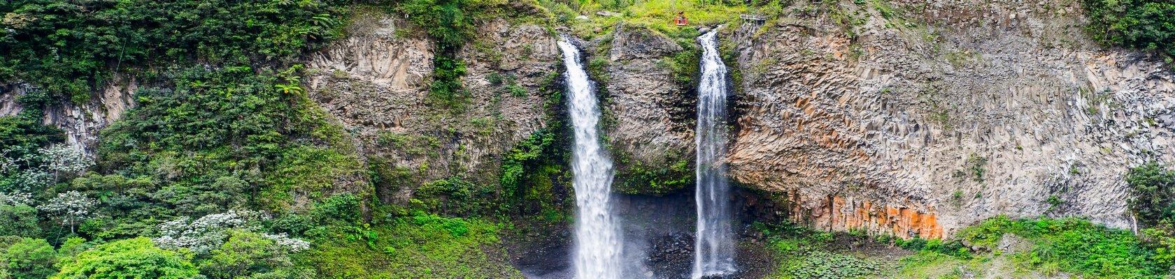 Rit over de route van de watervallen