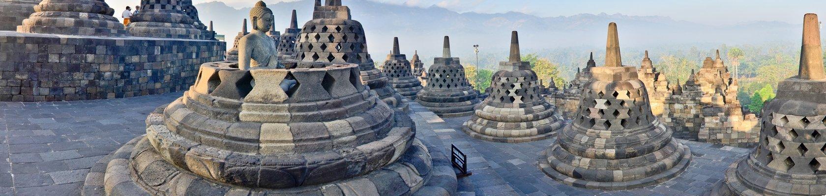 Bezoek aan de beroemde Borobudur tempels, Jogjakarta