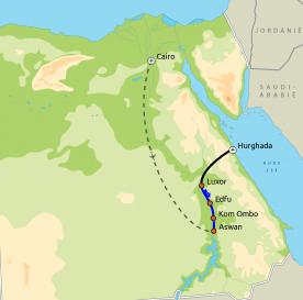 Routekaartje Klassiek Egypte Rode Zee Herfst