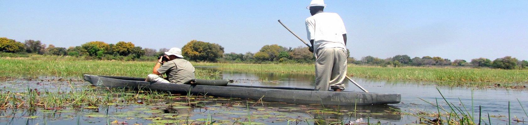 Varen op de Okavango Delta