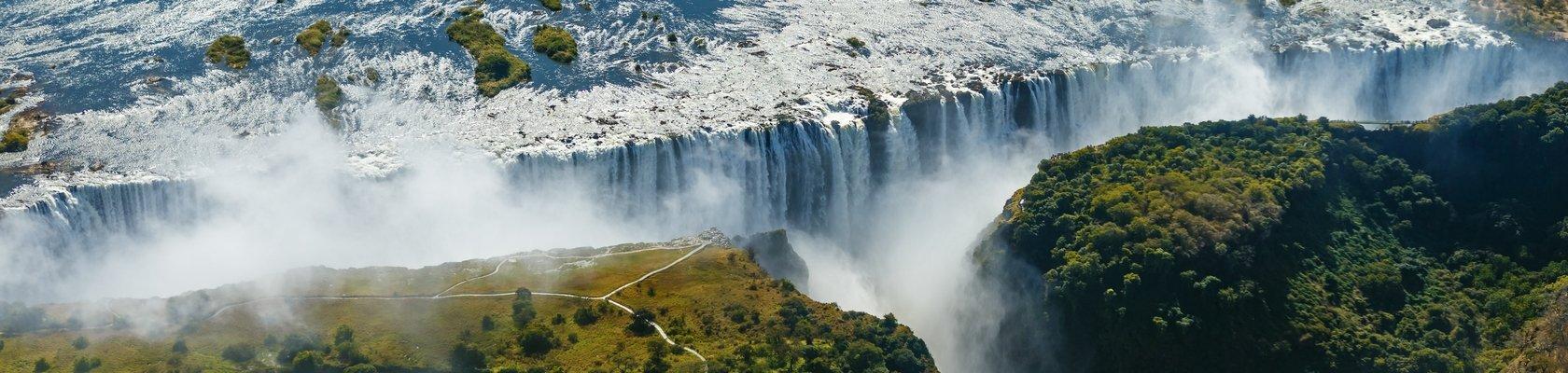 Uitzicht op Victoria Falls