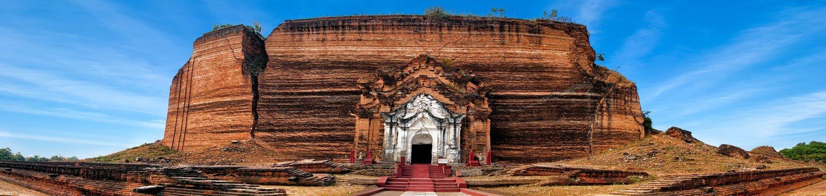Indrukwekkende pagode van Mingun