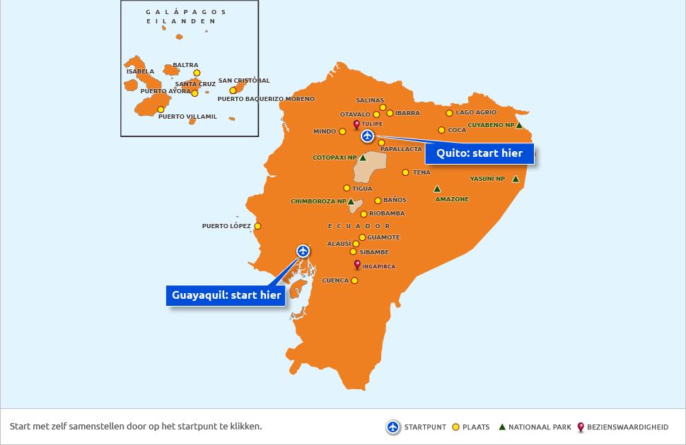 Selecteer Uw Startpunt Ecuador De Galápagos Zelf Samenstellen Nrv
