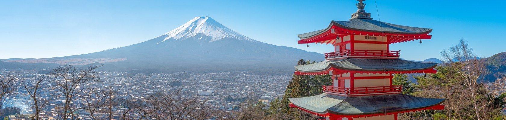 Mount Fuji en de Chureito Pagode