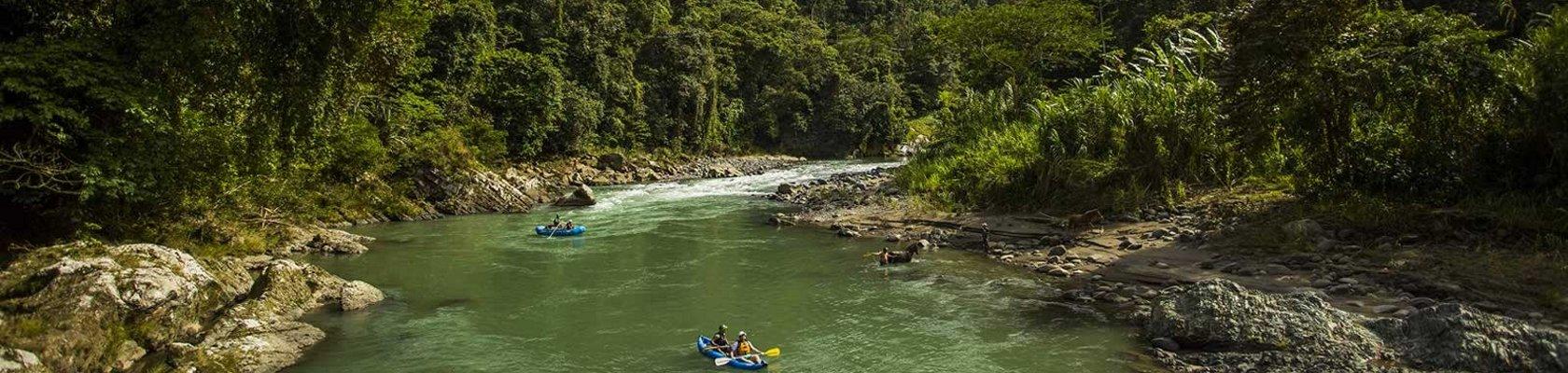 Raften over de Pacuare-rivier