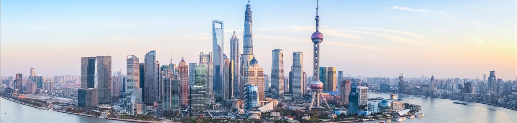 Skyline van Shanghai