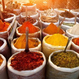 Indian market spices