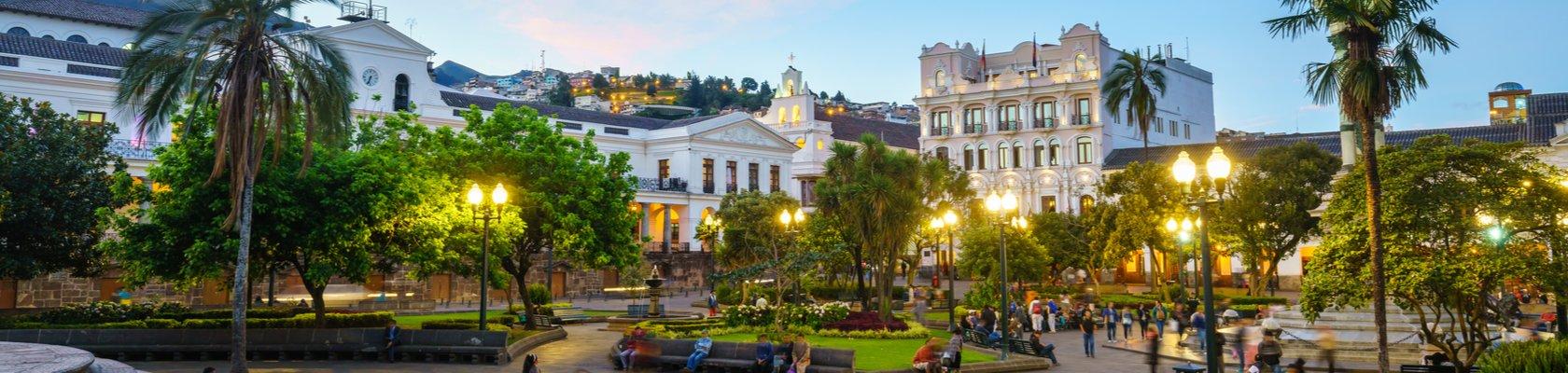 Het centrale plein van Quito