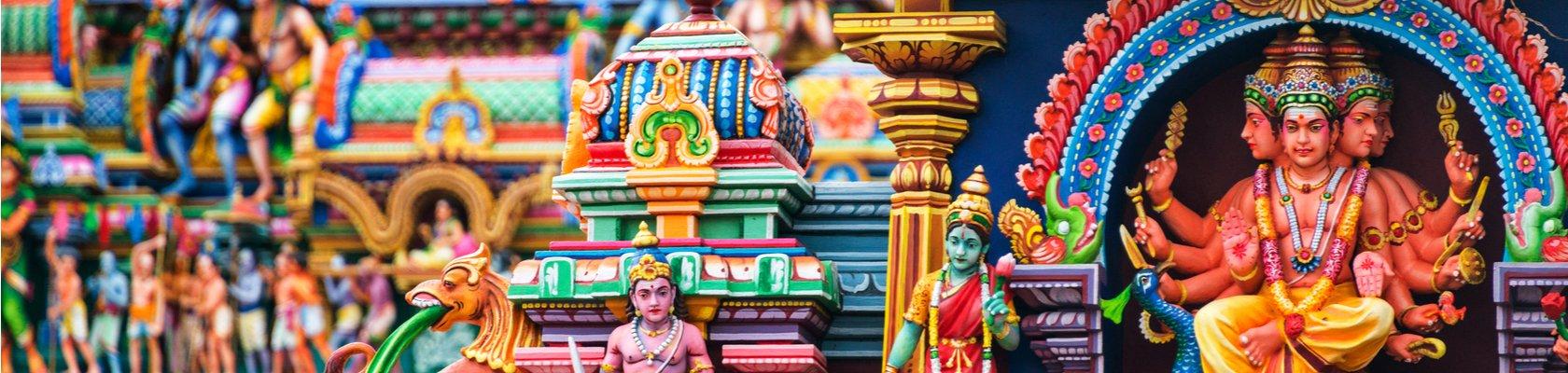 Kleurrijke tempels in Chennai