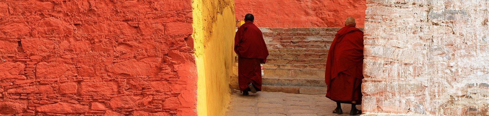 Monniken in Tibet