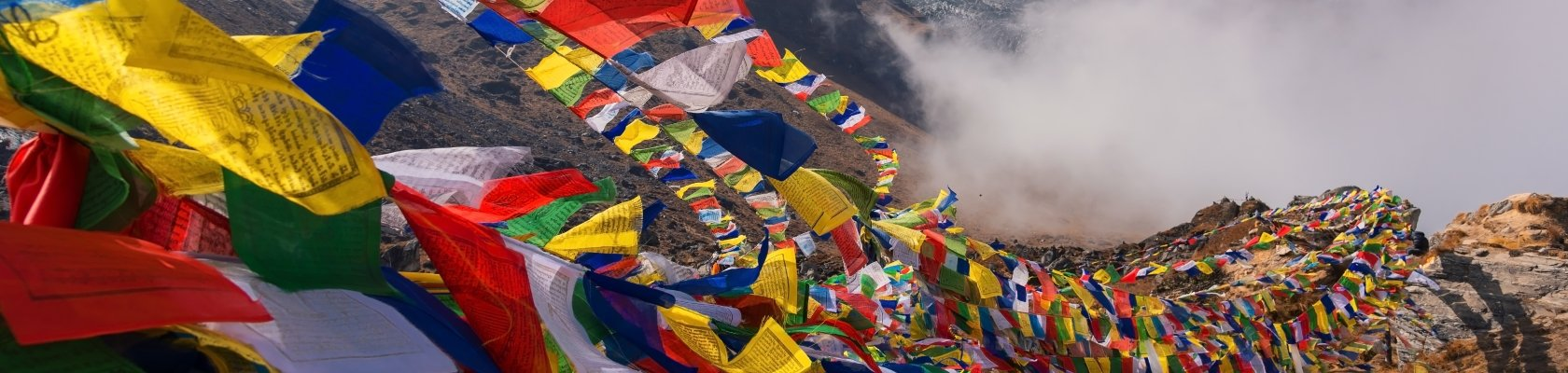 Tibet, gebedsvlaggetjes