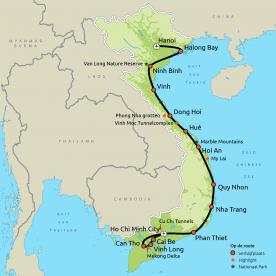 Hoogtepunten van Vietnam