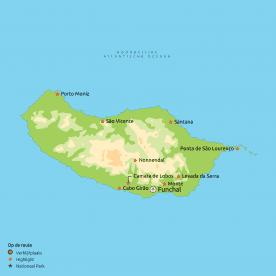 Routekaartje Mooiste van Madeira