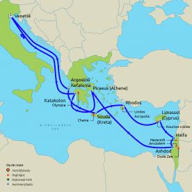 Routekaart oude koningkrijken