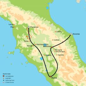 Privéreis Relaxt door Toscane, Umbrië & Rome