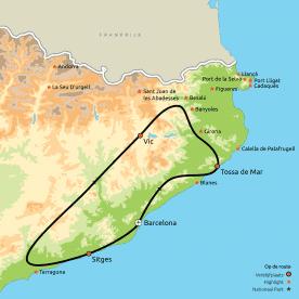 Routekaart Het échte Catalunya