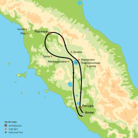 Groepsreis Toscane, Umbrië & Rome