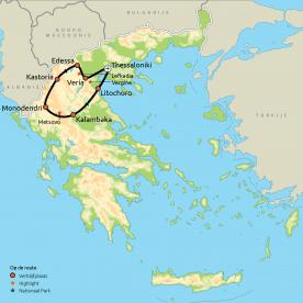 Relaxt door Noord-Griekenland