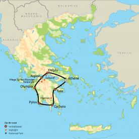 Relaxt door de Peloponnesos