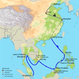 Zuid Oost Azië cruise