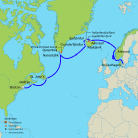 Trans-Atlantische groepscruise