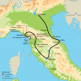 De Italiaanse Riviera, Toscane & Le Marche
