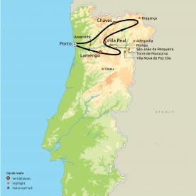 De loop van de Douro