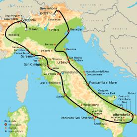 Grand Tour door Italië