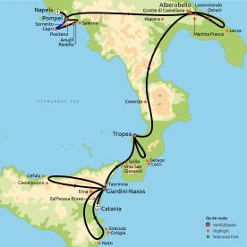 Hoogtepunten van Zuid-Italië incl. Sicilië
