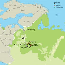 Hoogtepunten van Moskou, Gouden Ring en St. Petersburg