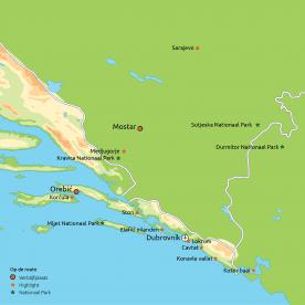 Privéreis Hoogtepunten van Dalmatië & Bosnië-Herzegovina