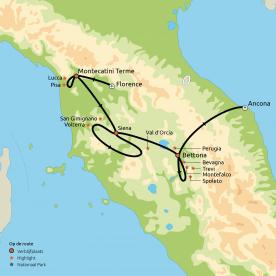 Proef, beleef en ontdek Toscane & Umbrië
