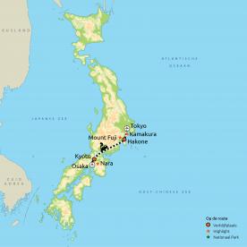 Japan in vogelvlucht