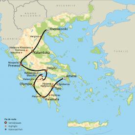 Routekaart Verrassend Griekenland