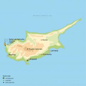 Routekaart Relaxt Cyprus