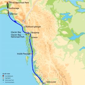 Rondreis & Cruise Alaska Zuidwaarts