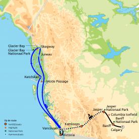 Rondreis & Cruise Rocky Mountains & Alaska