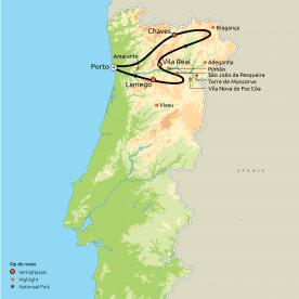 Privereis De loop van de Douro in Portugal