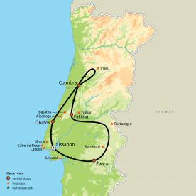 Privéreis Rondje Midden-Portugal
