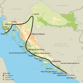 Privéreis Relaxt van Istrië naar Dalmatië