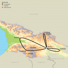Routekaartje Georgië