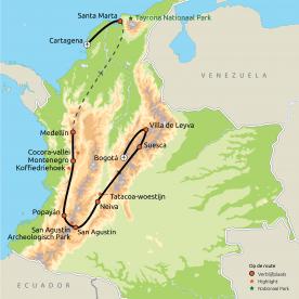 Hoogtepunten van Colombia