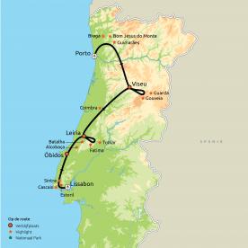 Van Porto naar LIssabon