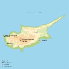 Routekaart Charmant Cyprus