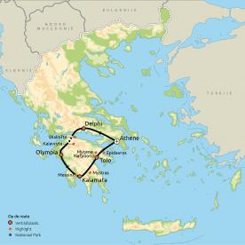 Routekaart Klassiek Griekenland