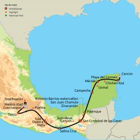Route Mooiste van Mexico