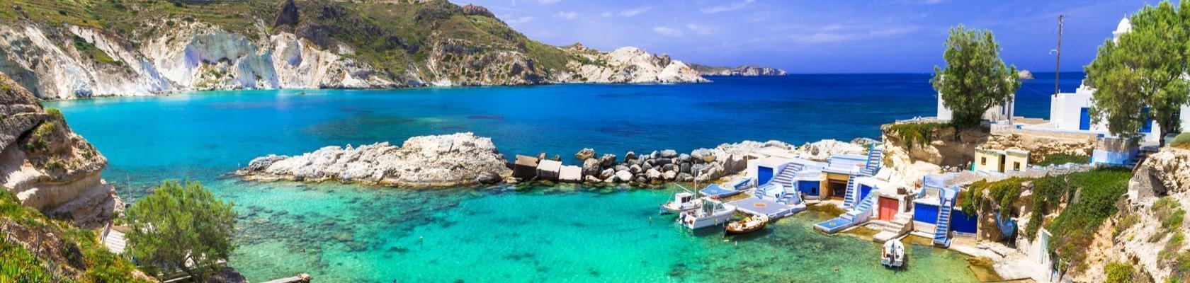 Het vissersdorpje Mandrakia op Milos