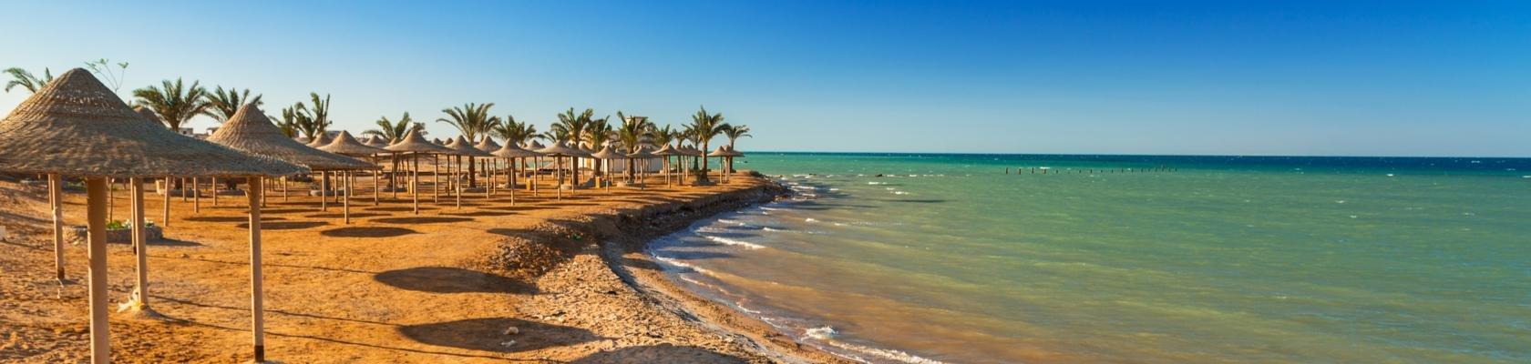 Relaxen op het strand van Hurghada